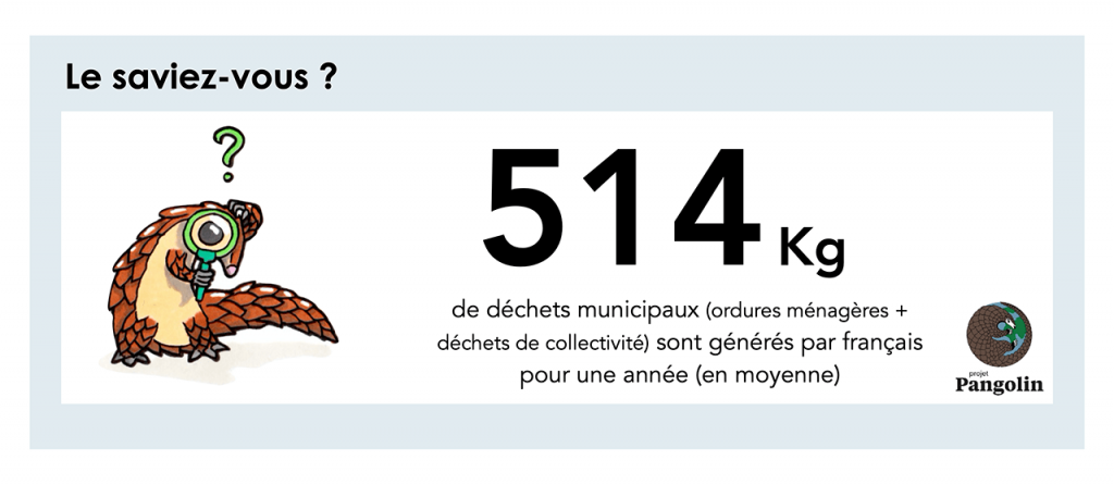 Déchets municipaux par français chaque année