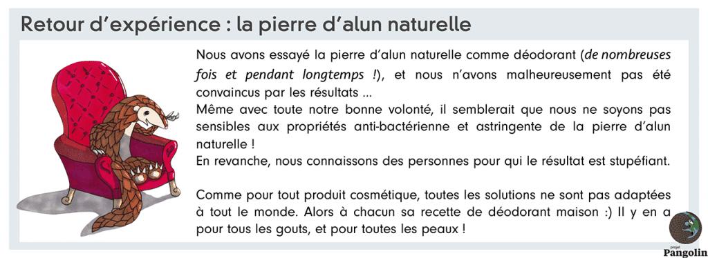 Pierre d'alun et déodorant : avis